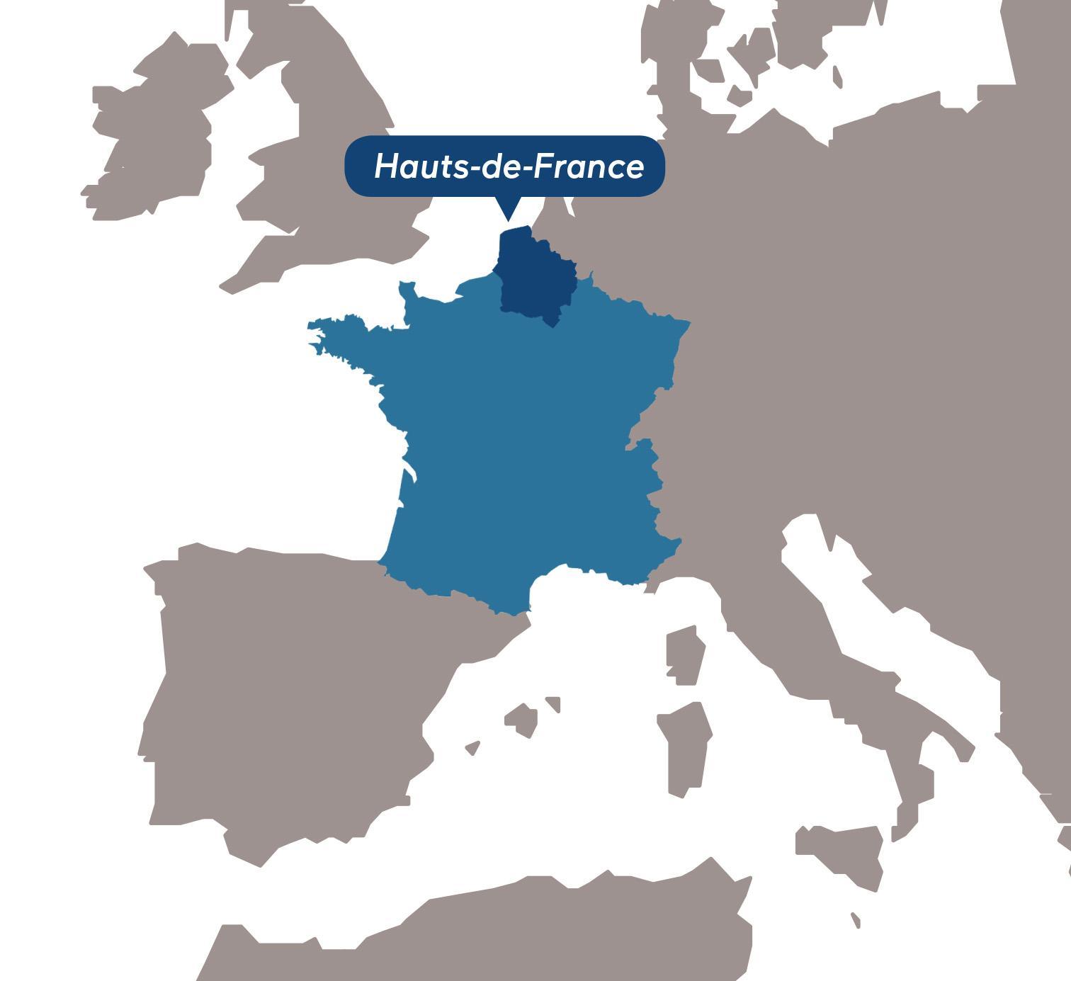Mission Attractivité Hauts-de-France_carte Europe